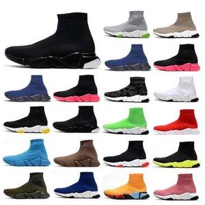 أعلى مصمم الرجال النساء الأحذية سرعة المدرب جورب الأحذية الجوارب رجالي المدربين التمهيد الأزياء عارضة balck حذاء رياضة مع صندوق