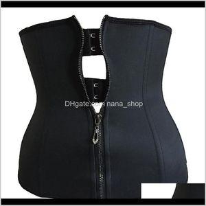& Tummy Women Latex Waist Trainer Body Shaper Corsets With Zipper Cincher Corset Top Slimming Belt Black Shapers Shapewear Plus Size K Rwuif