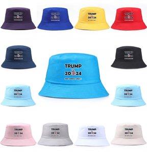 2024 Trump Hat Men Women Bucket Cap Keep America Great Hat Trump Cap Republican President Trump Letters Visor Hats Fishing Caps DHL 752 T2