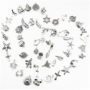 2021 Fashion delicate personality 100pcs collection Vintage Antique Silver Mini Life Alloy Pendant DIY Jewelry Making