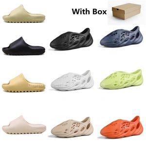 Slide Mens Rubber Slippers Womens Sandals Sand Brown Resin Desert Shoes Three color Black Coal Ash Bone White Slipper Beach Sneakers Foam Heatshoes