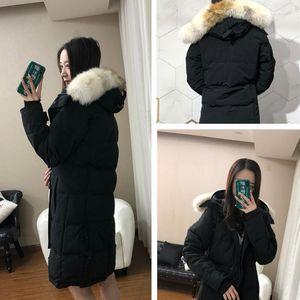 Top Qualität Frauen Winter Daunenjacke Real Wolf Fell Dicke Warme Mantel Womens Wasserdichte Outwear Baumwolltaschen Parkas Plus Size XXXL 7 Stil zur Auswahl