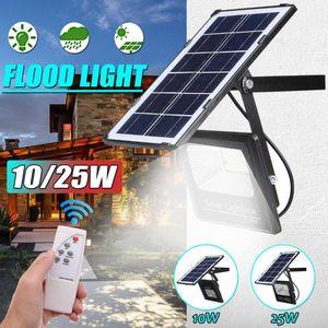 10 25W Solar Floodlight Led Portable Spotlight Outdoor Street Garden Light Waterproof Wall Lamp With Remote Control Floodlights