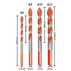 Multifunctional Ultimate Drill Bits Ceramic Glass Punching Hole Working 6-12mm Electric Screwdriver Drill Wind Bit