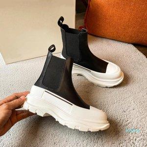 2021 Designe Newest Release Tread Slick Boot Platform Shoes Triple Sneaker Women Shoe Men Thick Bottom High Top Sneakers Size 35-40 Box