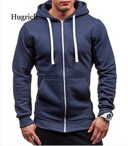 Men's Hoodies Zipper Sweatshirt Hoodie Solid Color Man Hooded For Male & Sweatshirts
