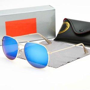 Classic Round Sunglasses Brand Design UV400 Eyewear Metal Gold Frame Sun Glasses Men Women Mirror ray eyeglasses Polaroid glass Lens bans