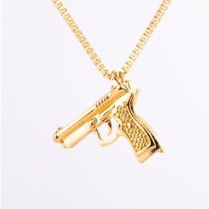 Collar de pistola de moda de hombre HIP creativo nuevo salto hiphop marca colgante