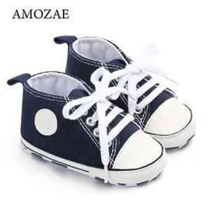 Walking shoes Classic Casual Canvas Baby Boys and girls Shoes born Sport Sneakers Amozae Children Booties 210827