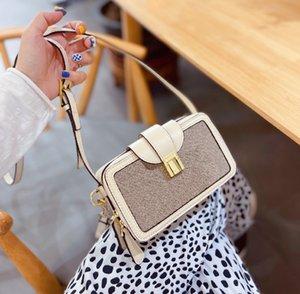 Moda diagonal bolsas de hombro mujeres moda lienzo bolso diseñador premium textura bolso de monedas WF2102052