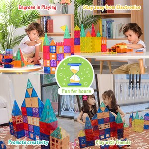 Color window magnetic plate to build blocks track car magnetic ring traffic boys and children educational toys 3-6 years old