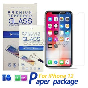 Clear Screen Protector Tempered Glass for iPhone 12 11 Pro X XS XR 7 8 Plus Samsung J5 J7 prime J6 J8 A8 J2 core s10E Max 0.33MM 2.5D 9H with retail paper Package