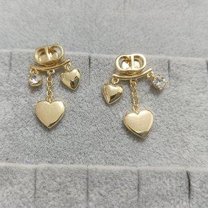 home size love pattern women's New S925 silver needle inlaid trend Su Earrings