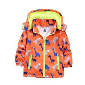 Children's stormsuit 2021 spring and autumn new fashion casual cute cartoon print Outdoor Jacket
