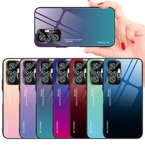 Ultra Slim Thin Gradient Smooth Tempered Glass Cases For Xiaomi Redmi Note 10 Pro K40 9 POCO M3 X3 NFC Note9S Mi 11
