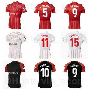 2021 2022 2022 الرجال FC إشبيلية لكرة القدم جيرسي 5 Ocampos Lamela 10 من أي وقت مضى Banega 15 En-Nesyri 16 Navas 9 De Jong 11 El Haddadi Reguilon Football Shirt Kits Home Red Black White