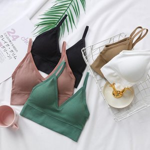 Women Sexy Crop Tops Tube Top Female Streetwear Sleeveless Camis Seamless Sports Lingerie Bra U Type Backless Bralette Brassiere
