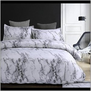 Sets 3Pcs Nordic Duvet Marbling Bedding Set Bed Linen Queen King Quilt Cover Bedclothes Pillow Case For Home Textile Wlubf Ft8Np