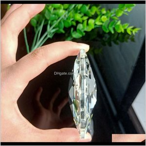 Decorations 75Mm Octagonal Crystal Prisms Glass Clear Chandelier Crystals Pendants Hanging Suncatcher Gift Wedding Home Decor Accessor Ccloa