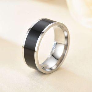 Braccialetto in acciaio inox a specchio trasversale NFC New Technology Bracelet Smart Wearing Ring