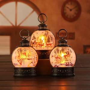 Christmas Electronic Candle Night Light Christmas Gifts Flat Wind Luminous Lantern Party Decorations w-01156