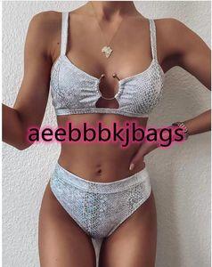 Sexy bikinis Snake print bikini Push up swimsuit female bathing suit String thong Brazilian High cut swimwear women