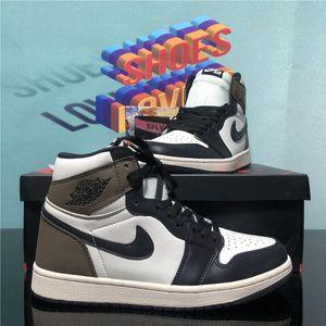 Aj Nike Air Jordan 1 Retro Men Momen Jumpman Basketball Shoes Dark Mocha Obsidian UNC University Blue Travis Scotts Off Rroyal Sport Trainers Sneakers With Box