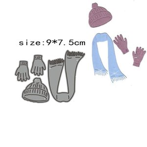 Painting Supplies Bilie Winter Wear Scarf Hat Gloves Metal Cutting Dies Molds Mold Guest Book Paper Craft Knife For 2021