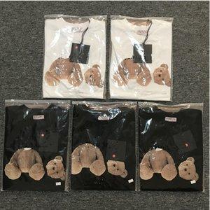 2021 T Shirt de alta calidad Algodón de manga corta Moda y mujeres Camiseta corta Pareja Modelos Modelos Hombres y mujeres Algodón impreso corto