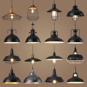 Loft Industrial Retro Iron Pendant Lights Creative For Barbershop Clothing Store Light Cafe Cover Lampshade Hanging Lamp Factory Lamps