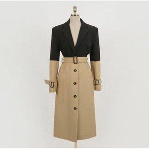 Spring Female Trench Coat High Street Women Clothes 2021 Loose Outerwear Woman Worker Streetwear Long Windbreaker With Belt Women's Coats
