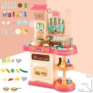 Bebek Shining 40 adet Mutfak Oyuncaklar Set Kızlar Oyuncak Mutfak Simülasyon Pişirme Oyuncak Seti 76 cm / 30in Ebeveyn-Çocuk Çocuklar Mutfak Hediye 1008 V2