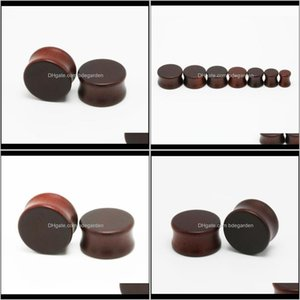 & Drop Delivery 2021 Alisouy 2Pc Wood And Expander Plug Natural Wooden Gauges Ear Plugs Flesh Tunnels Body Jewelry Piercing 0Tepr