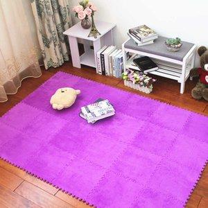 JCC Soft Baby EVA Foam Velveteen Puzzle Play Mat  kids Rugs carpet Interlocking Exercise Floor for children Tiles 30*30*0.6cm H0831