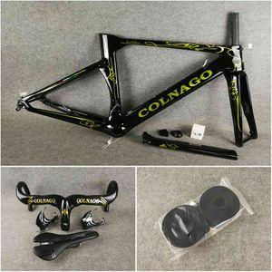 Conceito preto dourado do colnago do conceito do disco de carbono dos quadros do disco da bicicleta da bicicleta da bicicleta da bicicleta da bicicleta