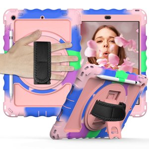 Case for iPad 8th 7th Generation Hybrid Shockproof Rugged Drop Protection Cover Compatible with i Pad 10.2 inch