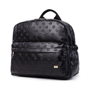Soboba Diaper Bags for Mummy PU Leather Large Capacity Nappy Changing Hanging on Stroller 3D Star Pattern 210907