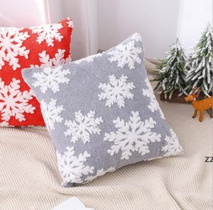 Christmas Snowflakes Pillow Covers Throw Pillow Case for Living Room Bedroom 46*46cm 2 Colors Cushion Covers Couch Sofa Bed HWB10273