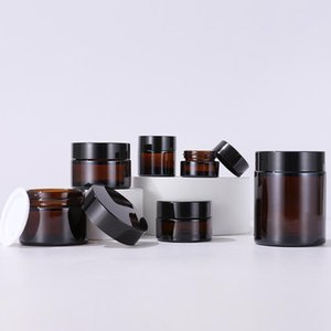 5g 10g 20g 30g 50g 100g Empty Amber Cream Bottle Glass Refillable Cosmetic Makeup Container Jar Storage