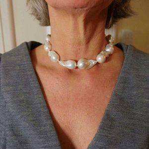 Baroque Natural Short 4A Extra Large жемчужные Женщины Ожерелье Гламур Ювелирные Изделия 2020 Рождественский Подарок Весь БОГО