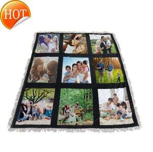 Blanks Jogue o cobertor de sublimação para o calor imprensa Bebê Impresso Poliéster Personalizado Pffor Cada Seasonso Tassel Travel GTZF