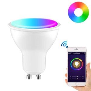 Bulbs GU10 LED Lamp Color Spotlight Indoor Neon Sign Light Bulb RGB Tape With Controller Lights Lighting COB 220V Dimmable Smart