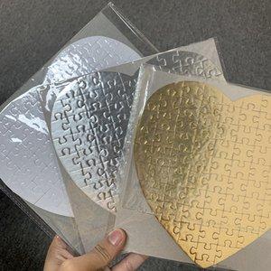 Sublimation leeres Herz Puzzles DIY Puzzle Paperics Hearts Love Shape Transfer Druckrohlinge Verbrauchsmaterialien Kinderspielzeug Geschenke