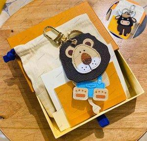 جديد أزياء مفتاح مشبك محفظة قلادة حقائب البقر الحيوان تصميم سلاسل مفتاح مشبك المفاتيح أعلى جودة المرأة حقيبة قلادة الملحقات