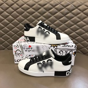 Streetwear men designer shoes black and white cool Luxury Mens casual sports shoe flat sneakers high quality