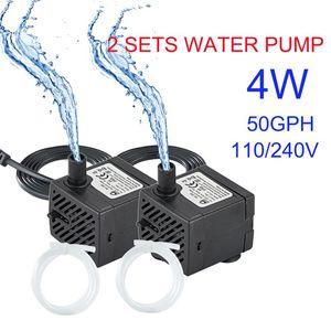 Air Pumps & Accessories 2X 80GPH 4W Mini Pump Fountain Submersible Durable Outdoor Water For Aquarium Fish Tank Pond Hydroponics