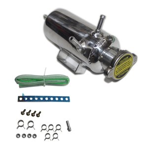 Auto Overflow Catch Can Water Pump Water Cooler Tank Coolant Reservoir Bottle Kit Car SUV Aluminum 350ML