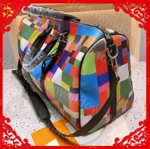 Dropshipping Women Luxurys Designers Bags 2021 Men Duffle Bag High Quality Travel Luggage Handbags Large CrossBody Bag Totes Grid Suitcase