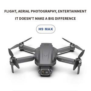UAV H9 최대 무인 항공기 전문 4K 1080P 듀얼 카메라 2.4G 와이파이 FPV 무인 항공기와 카메라 고도 홀드 접이식 Quadcopter RC Dron Toys Q0602