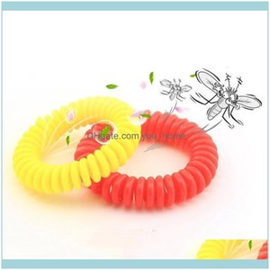 Household Sundries Home & Gardenmosquito Repellent Elastic Coil Spiral Hand Wrist Band Telephone Ring Chain Anti-Mosquito Bracelets Pest Con